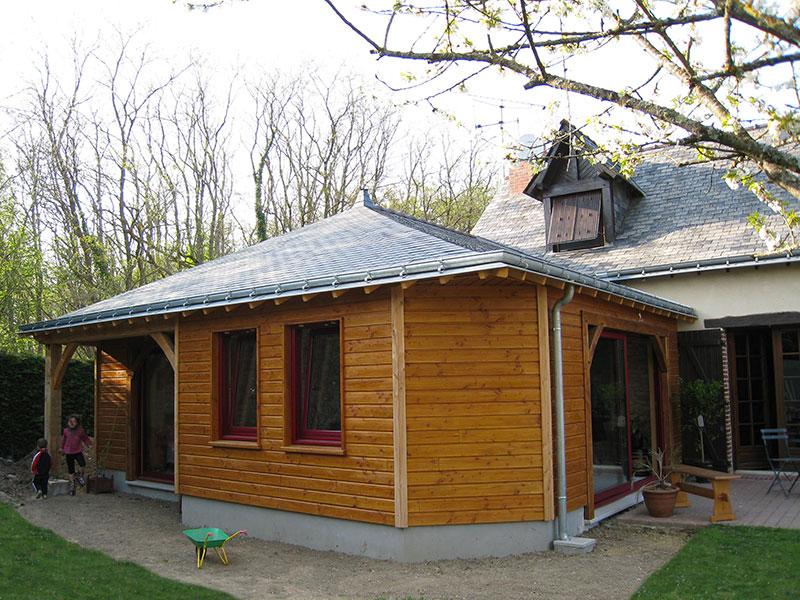 Extension bois menuiserie aluminium
