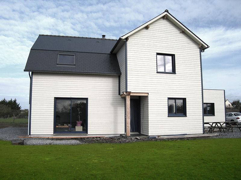 maison bois bardage double niveaux
