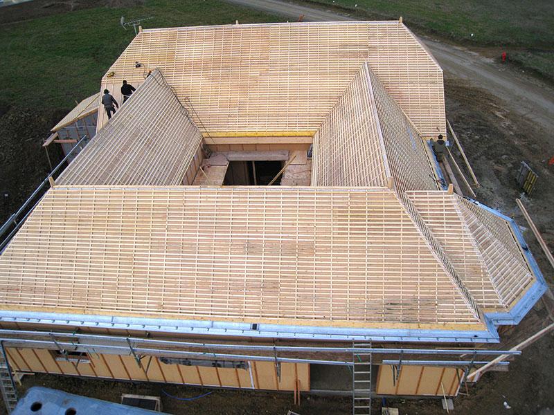 maison bois charpente complexe