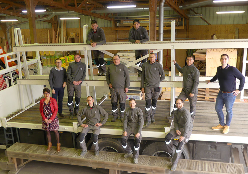Atelier équipe Aubry Construction Bois
