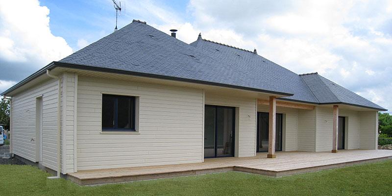 Maison ossature bois toiture complexe