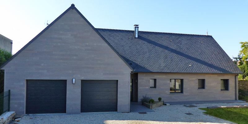 maison bois red cedar double garages