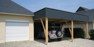 Extension carport maison contemporaine